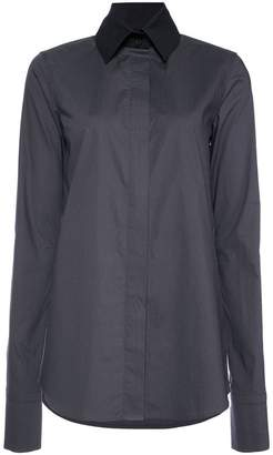 Vera Wang long-sleeve fitted shirt