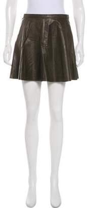 A.L.C. Lamb Leather Mini Skirt