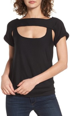 Women's Bailey 44 Pas De Chat Cutout Tee $148 thestylecure.com