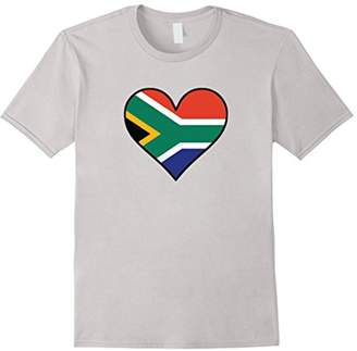 South African Flag Heart South Africa Love T-Shirt
