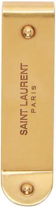 Saint Laurent Gold ID Money Clip