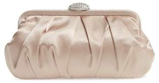 Nina Concord Pleated Satin Frame Clutch