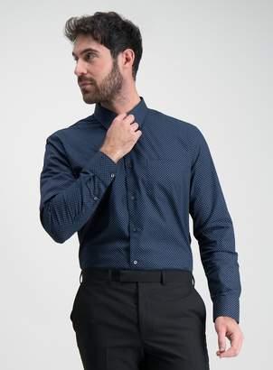 Tu Multicoloured Spot & Stripe Tailored Fit Shirts 2 Pack