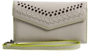 Women's Rebecca Minkoff Studded Leather Iphone 7 Wristlet - Grey
