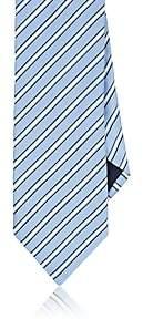 Barneys New York MEN'S PLAIN-WEAVE SILK-COTTON NECKTIE-LT. BLUE