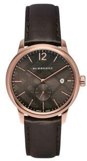Rose Gold & Chocolate Leather-Strap Watch