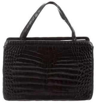 Judith Leiber Crocodile Handle Bag
