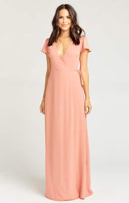 Show Me Your Mumu Noelle Wrap Dress ~ Rustic Mauve Crisp