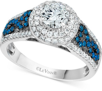 Le Vian® Bridal Diamond Engagement Ring (1-1/3 ct. t.w.) in 14k White Gold $16,845 thestylecure.com
