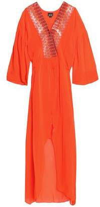 Just Cavalli Embellished Crepe Maxi Dress