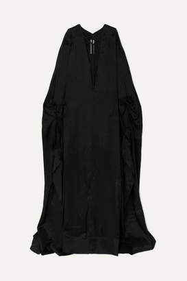 Rick Owens Tulle-trimmed Taffeta Gown - Black