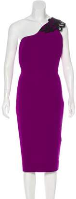 Victoria Beckham Wool & Silk-Blend Knee-Length Dress