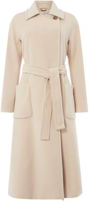 Max Mara Studio Gardena long wool coat with belt