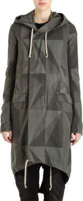 Rick Owens Geometric Camo Coat