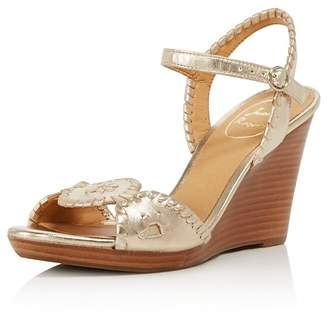 Jack Rogers Women's Clare Leather Platform Wedge Sandals
