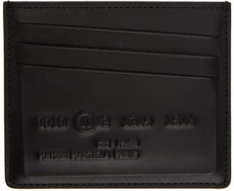 Maison Margiela Black Inside Out Card Holder
