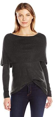 Kensie Women's Tissue Knit Sweater with Cowl Neck $15.20 thestylecure.com