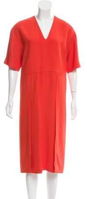 Fendi V-Neck Midi Dress