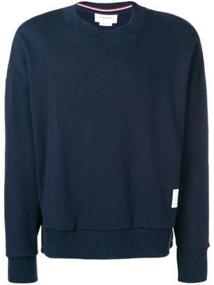 Thom Browne oversized loopback sweatshirt blue