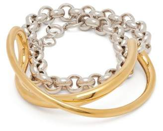 Charlotte Chesnais Initial Silver And Gold Plated Chain Bracelet - Womens - Gold