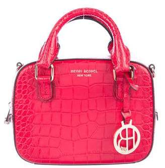 Henri Bendel Embossed Leather Satchel