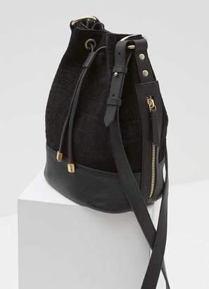 Mint Velvet Tilly Black Suede Bucket Bag