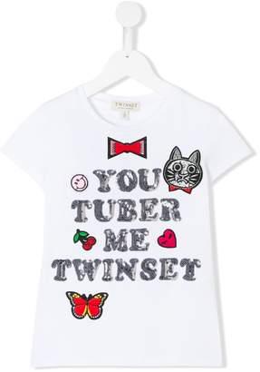 Twin-Set Kids embellished short-sleeve T-shirt