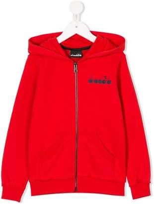 Diadora Junior logo print zip jacket
