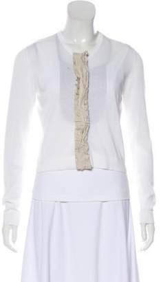 Fabiana Filippi Lightweight Button-Up Cardigan Set White Lightweight Button-Up Cardigan Set