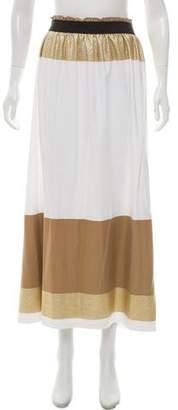 Shamask Metallic-Accented Midi Skirt