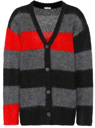 Miu Miu Striped mohair-blend cardigan