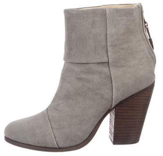 Rag & Bone Canvas Round-Toe Ankle Boots