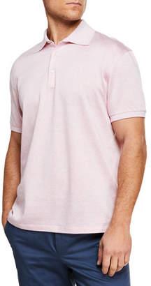 Ermenegildo Zegna Men's Cotton Twill Polo Shirt