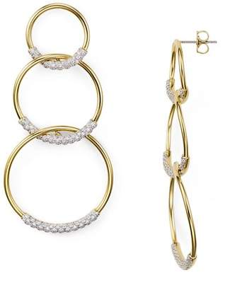 Nadri Pavé Tri Circle Drop Earrings