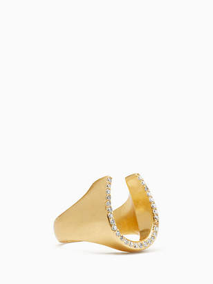 Kate Spade Wild ones pave horseshoe ring