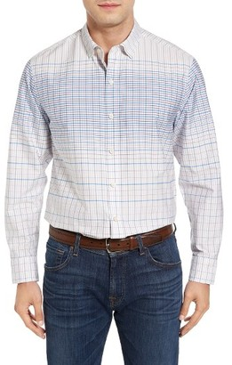 Men's Tommy Bahama Ponte Vedra Ombre Check Cotton & Silk Sport Shirt $158 thestylecure.com