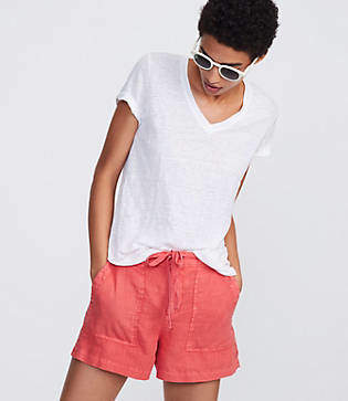 Lou & Grey Garment Dye Linen Shorts