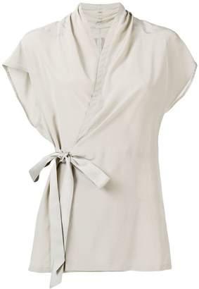 Rick Owens sleeveless belted blouse