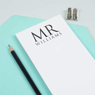 XOXO Personalised Notepad For Valentines