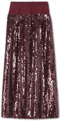 Tibi Sequined Double Waist Full Skirt