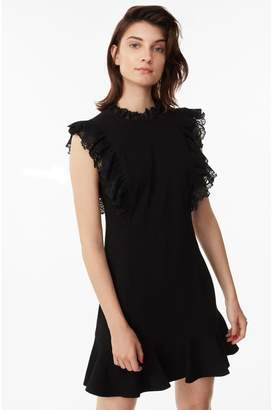 Rebecca Taylor Crepe Lace Dress