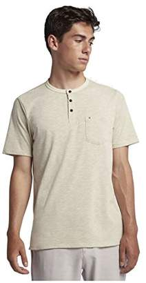Hurley Men's Apparel Dri Fit Lagos Henley SS Tee