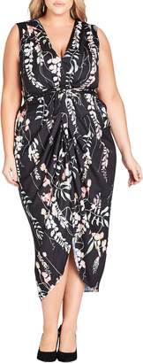City Chic Hothouse Vine Sleeveless Dress