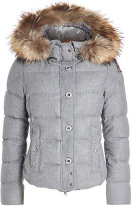 Parajumpers Virgin Wool Down Jacket with Fur-Trimmed Hood