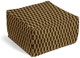 Loom Decor Square Pouf Alessio Geo - Bronze