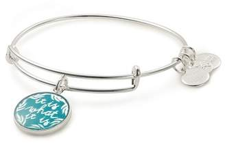 Alex and Ani Words Are Powerful It Is What It Is Charm Expandable Wire Bracelet