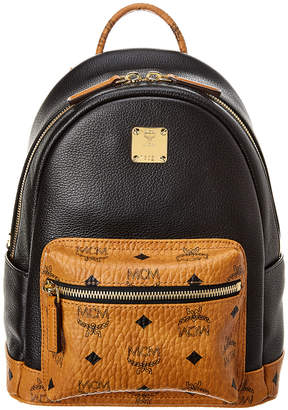 MCM Geonautic Visetos Leather Backpack