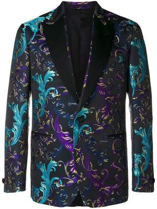 Versace jacquard button blazer