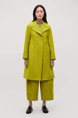 Cos WIDE-COLLARED WOOL COAT