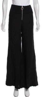 Enza Costa Wide-Leg Linen Pants
